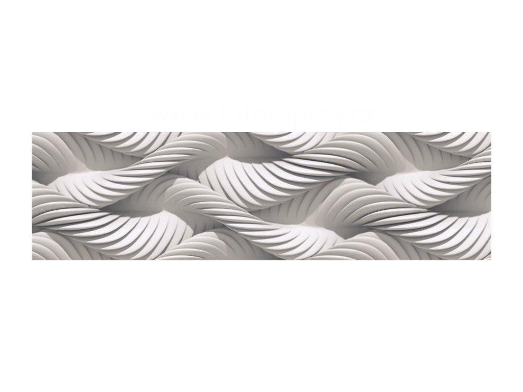 Samolepící bordura - Bílá abstrakce, 14cm x 5m,  WB 8228