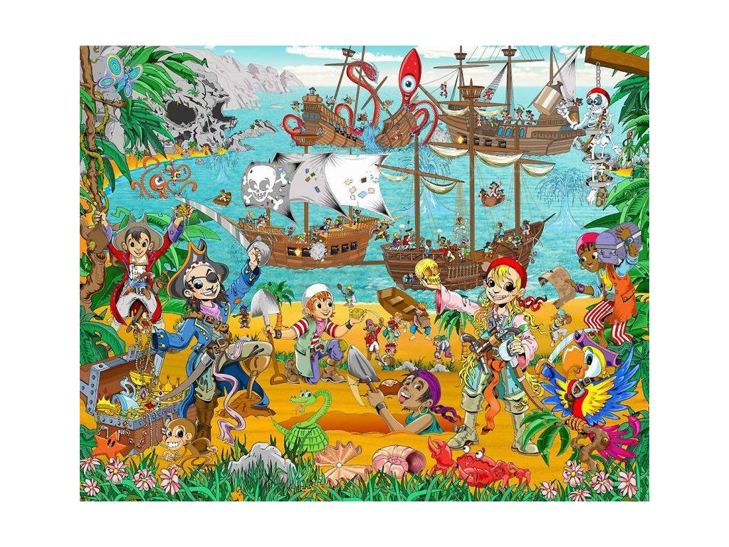Dětská fototapeta Piráti a hledači pokladů, rozměr 244 x 305 cm, doprodej