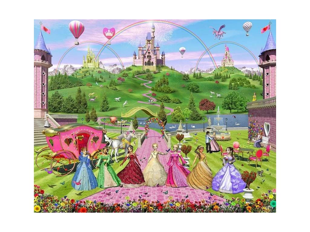 Dětská fototapeta Pohádková princezna, rozměr 2438x3048mm,skladem  poslední 1ks!