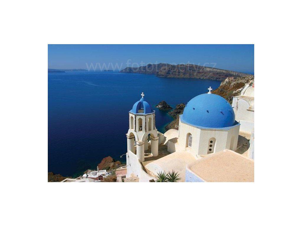 Pětidílná vliesová fototapeta Santorini, rozměr 375x250cm, MS-5-0199