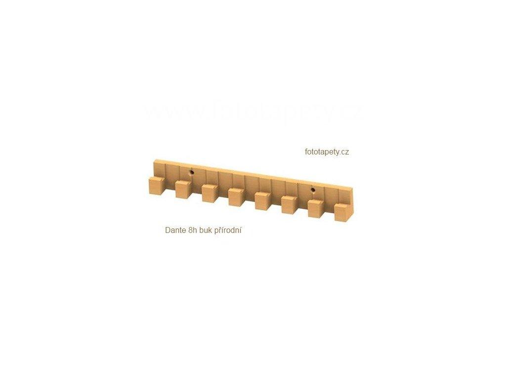 Dřevěný věšák DANTE - 5h, 8h, 13háčkový