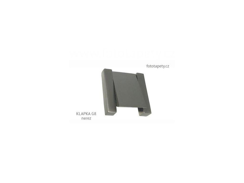 kovová úchytka KLAPKA rovná 40x40 G8