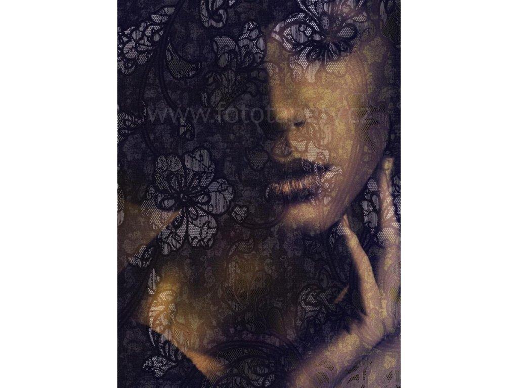 Dvoudílná vliesová fototapeta Dívka s krajkou, 184x248cm, XXL2-012