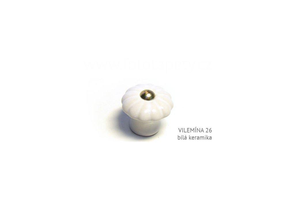vilemina 26 bila keramika knopek