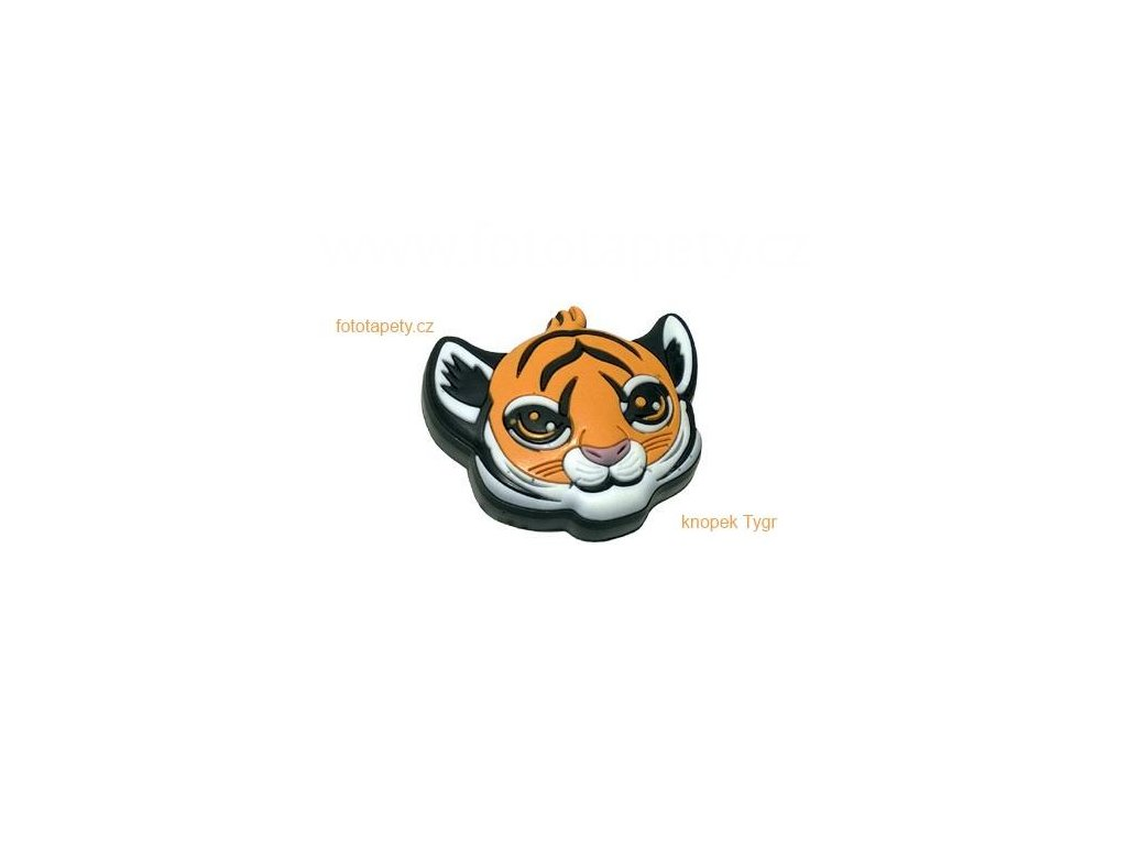 knopek Tygr - dětská plastová úchytka na nábytek