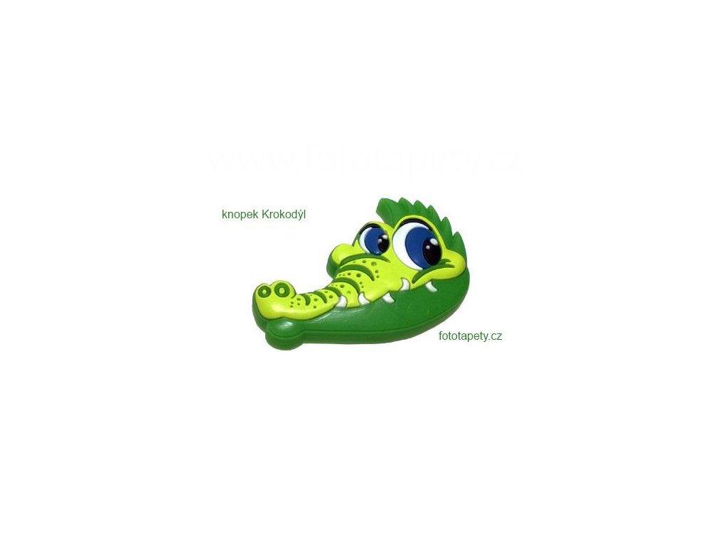 knopek Krokodýl - dětská plastová úchytka na nábytek
