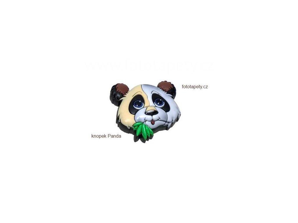 knopek Panda - dětská plastová úchytka na nábytek