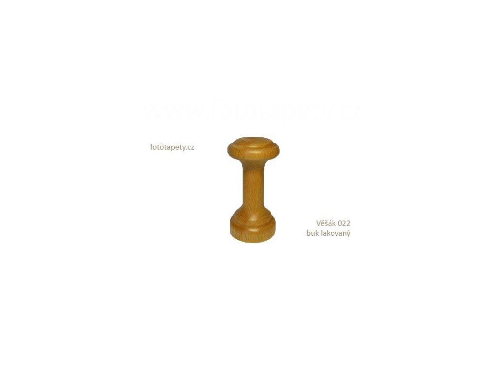 Dřevěný věšák 022 - jednokolíkový