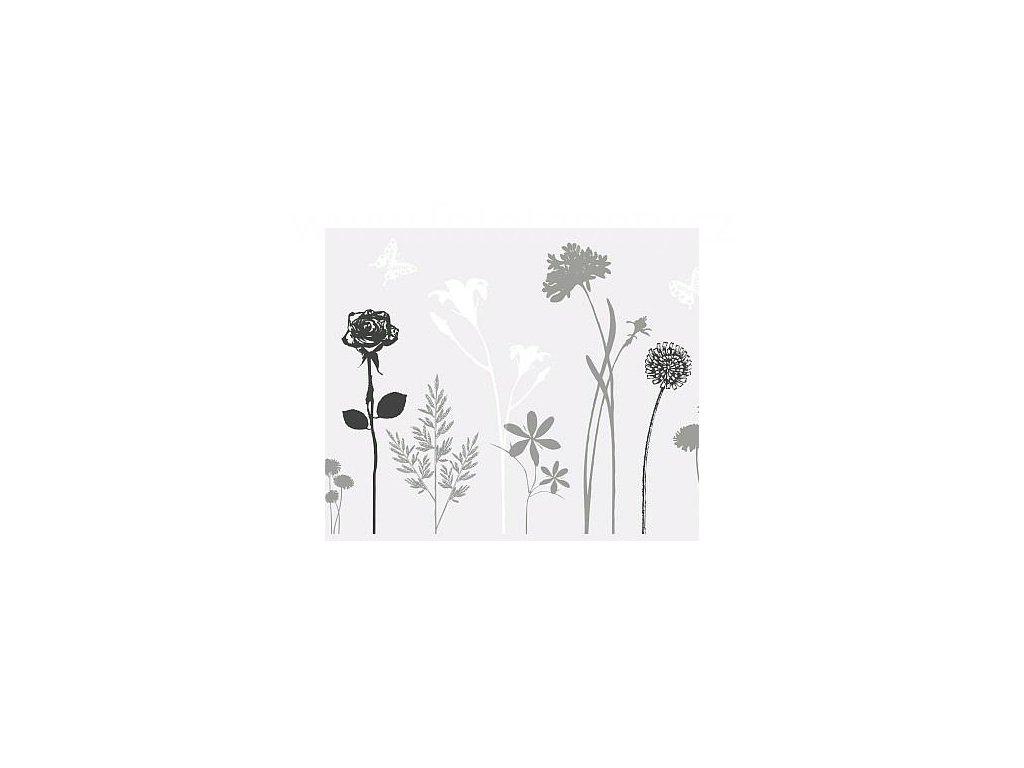 Transparentní folie na sklo 1-2-3 static Premium - Blossom