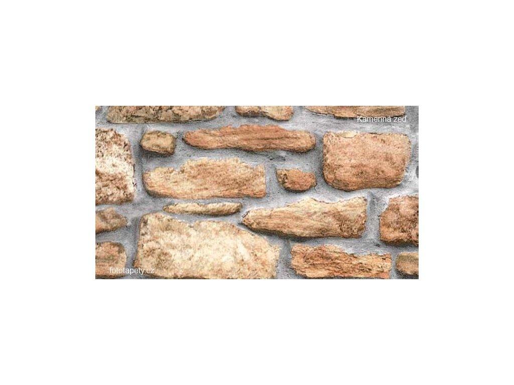 Samolepící tapeta  imitace přírodního materiálu, Kamenná zeď