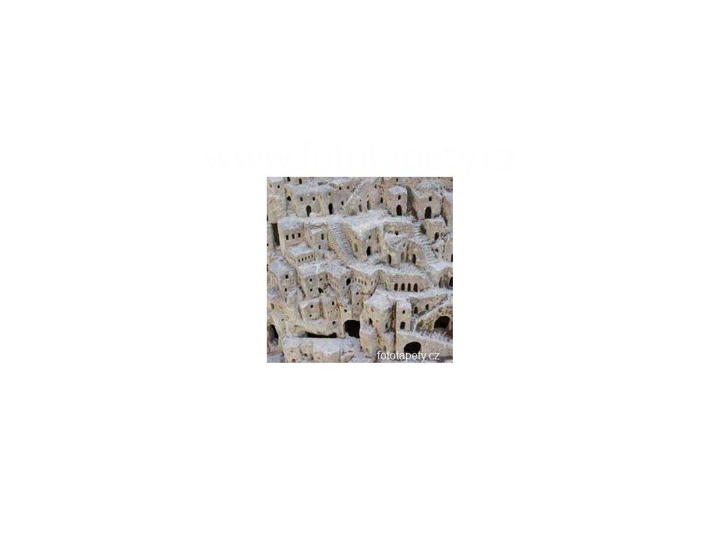 Samolepící velkoplošná nálepka - Matera, 100x100cm