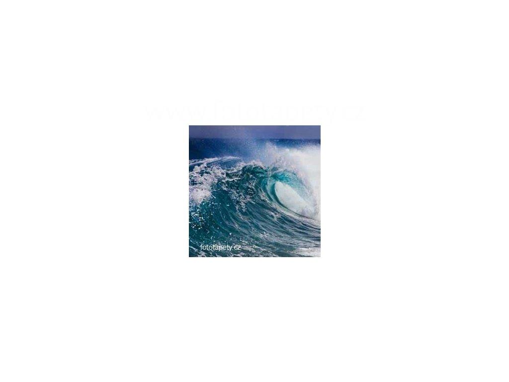 Samolepící velkoplošná nálepka - Vlny moře, 100x100cm