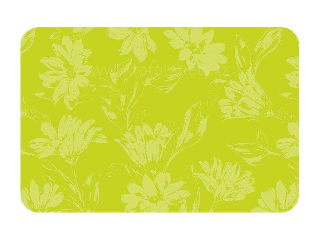 Prostírání na stůl - Zelené květy, 44x29cm