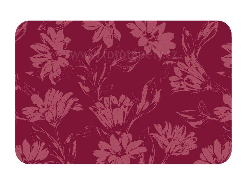 Prostírání na stůl - Červené květy, 44x29cm
