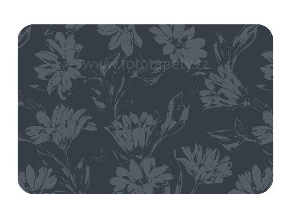Prostírání na stůl - Šedé květy, 44x29cm