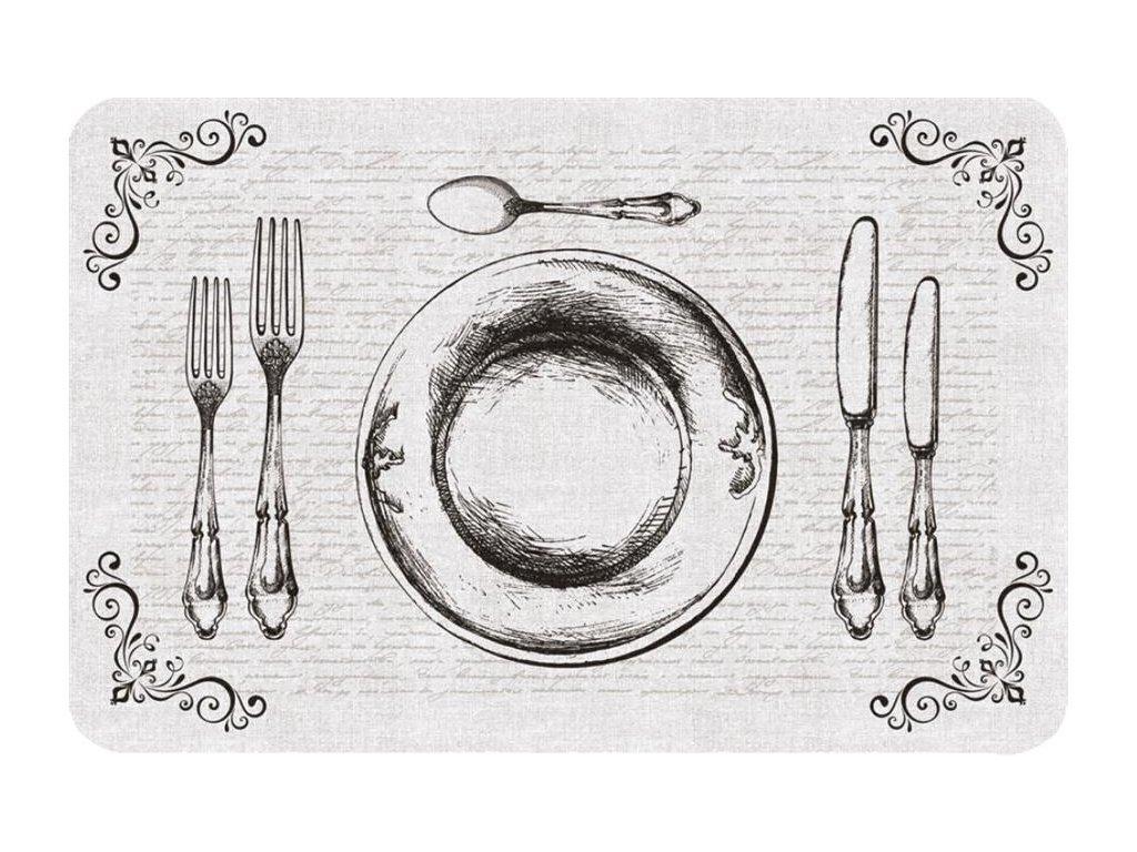 Prostírání na stůl - Příbor, talíř, 44x29cm, 230-2513