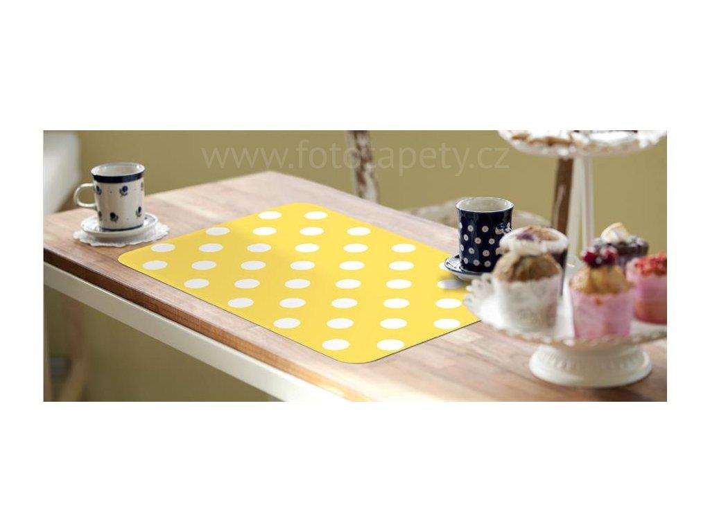 Prostírání na stůl - Žluté puntíky, 44x29cm, 230-2506