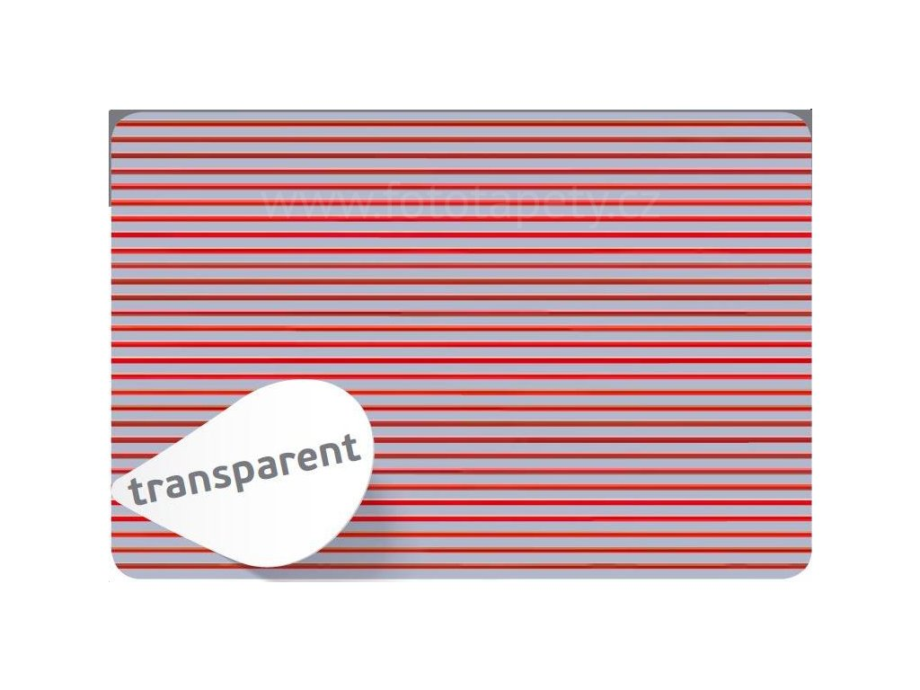 Prostírání na stůl - Pruhy červené, 45x30cm