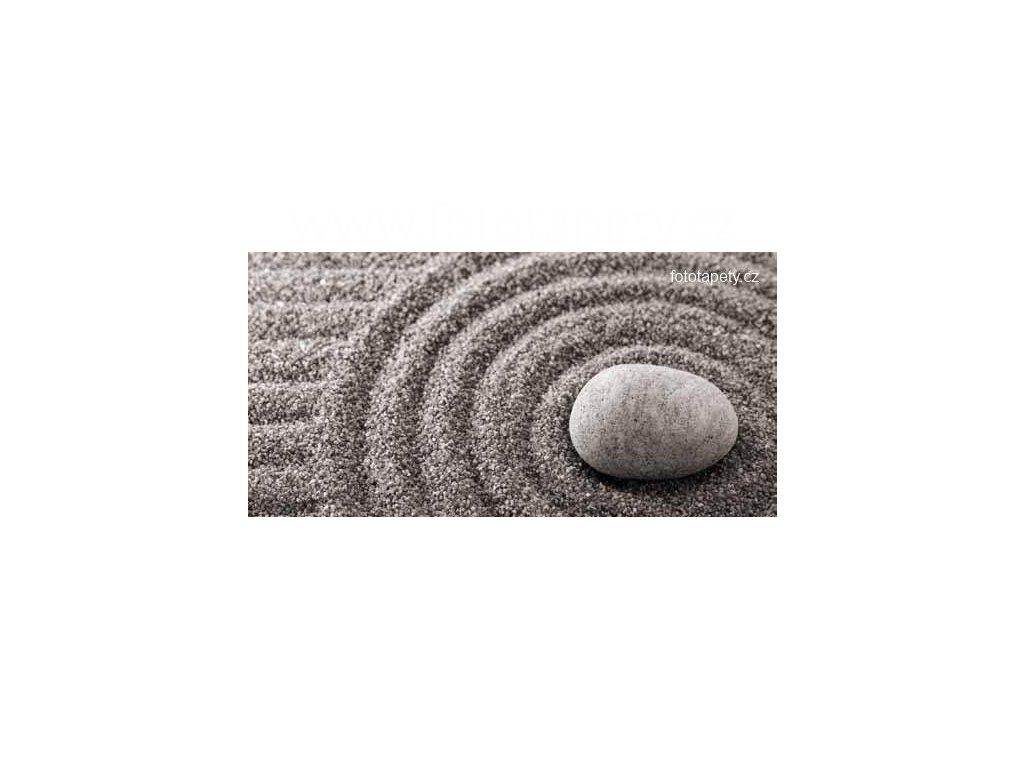 Samolepící velkoplošná nálepka - Zen kruhy, 180x100cm