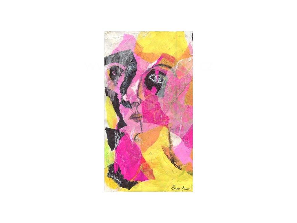 Samolepící velkoplošná nálepka - Dáma ve žlutém , 100x180cm