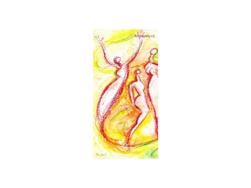 Samolepící velkoplošná nálepka - Radost, 100x180cm