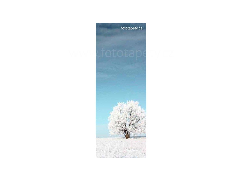 Samolepící velkoplošná nálepka - Zima, 100x270cm
