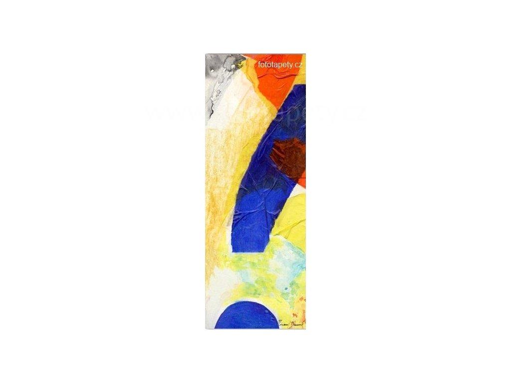 Samolepící velkoplošná nálepka - Geometrické tvary, 100x270cm