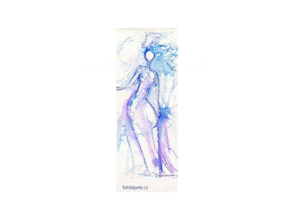 Samolepící velkoplošná nálepka - Bílá královna, 100x270cm