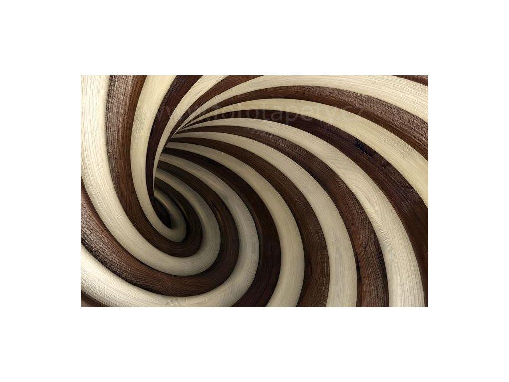 Samolepící fototapeta na podlahu - Twisted tunel, 255x170cm, 018