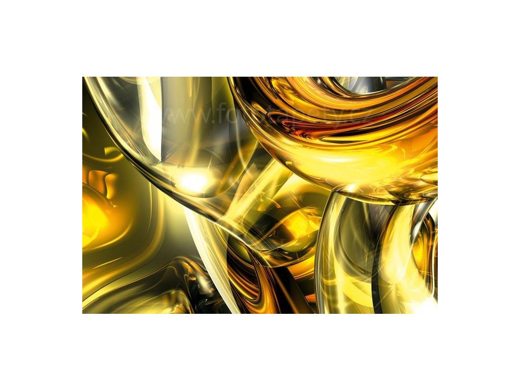 Samolepící fototapeta na podlahu - Zlaté víření, 255x170cm, 020
