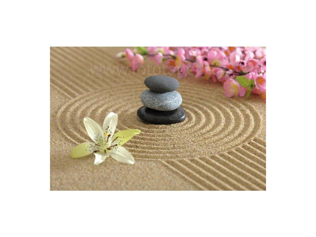 Samolepící fototapeta na podlahu - Zen zahrada, 255x170cm, 025