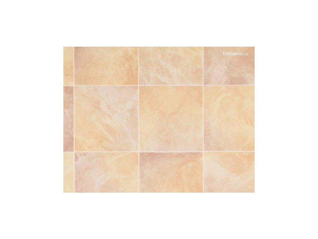 Dekorační obklad stěny - Béžovo oranžové kachličky