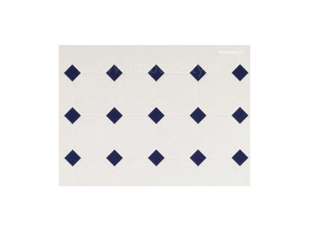 Dekorační obklad stěny - Kachličky - modré kosočtverce, doprodej