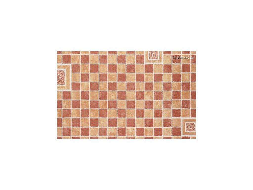Dekorační obklad stěny - Kachličky - červená mozaika, doprodej