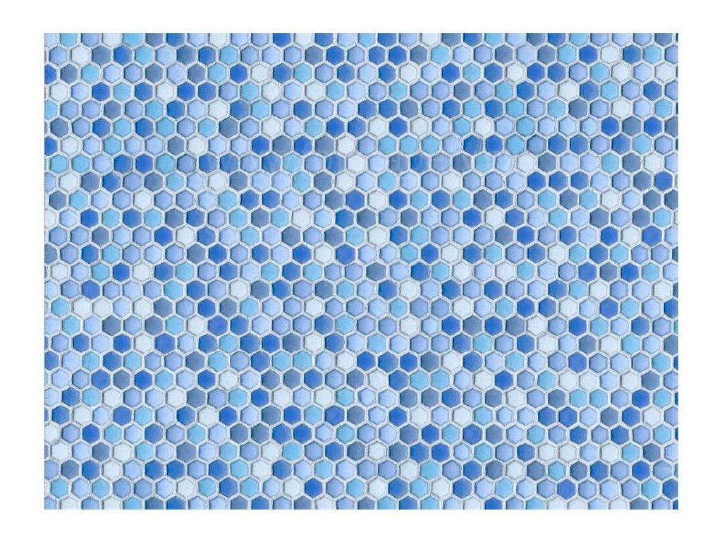 Dekorační obklad stěny - Modrá mozaika, doprodej