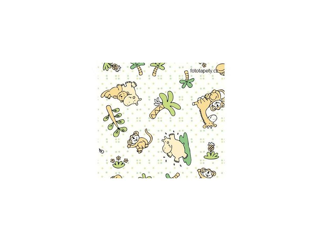Samolepící tapeta dětský motiv Džungle, šíře 45cm, skladem posledních 4m a 0,95 m