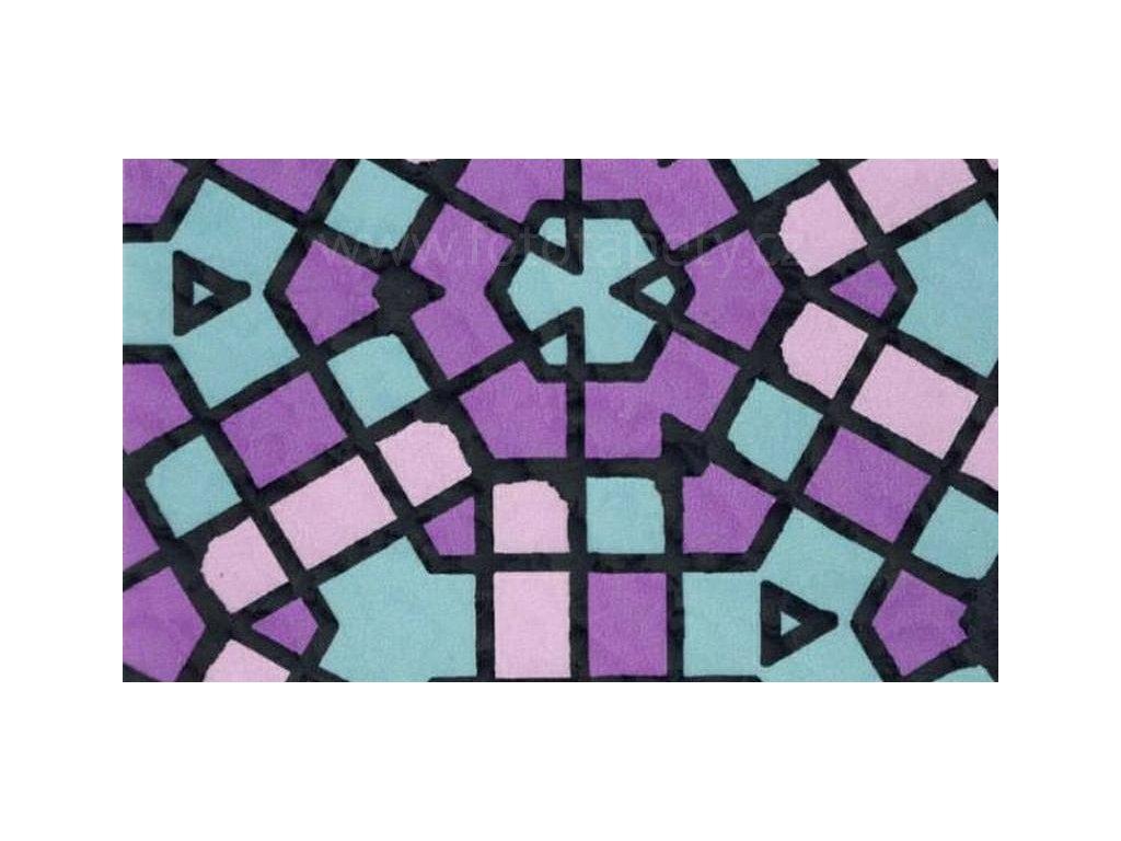 Barevná transparentní samolepící folie, vzor Mozaika
