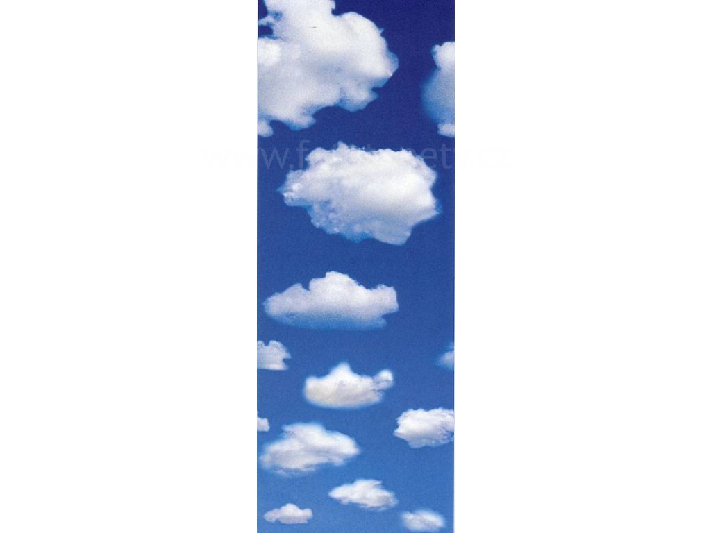 Obrazová tapeta dvoudílná Oblaka, 91x254cm, 2D ID 603, skladem poslední 1 ks!!!