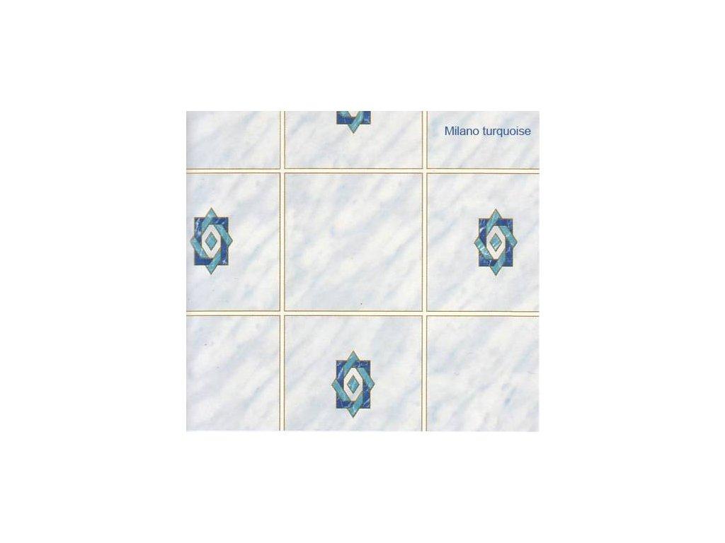 Samolepící tapeta imitace obkladaček,vzor Milano turquoise, skladem poslední 3 m!!!