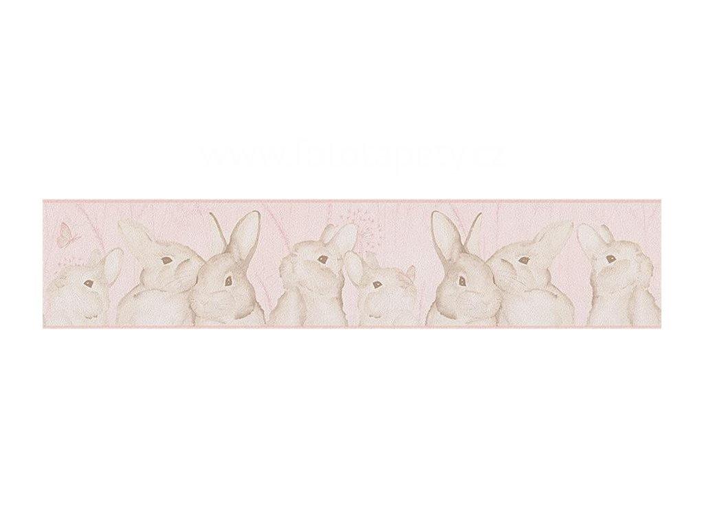 Papírová bordura na zeď Only borders 9 - Zajíčci, 13cmx5m, 3033-02