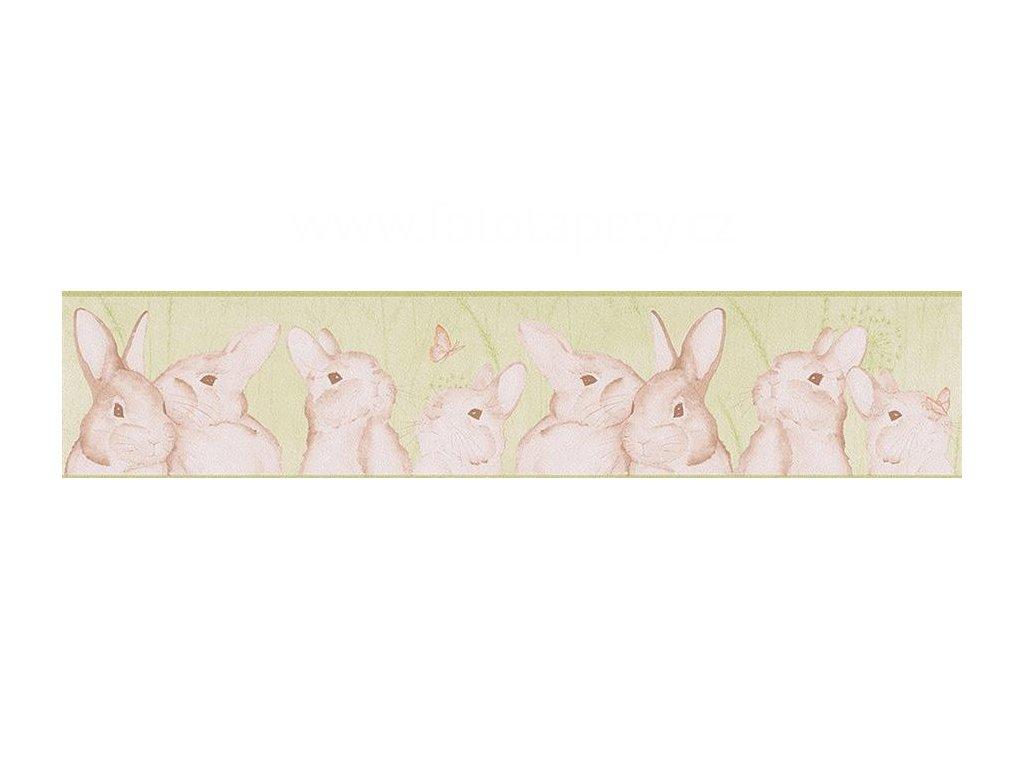 Papírová bordura na zeď Only borders 9 - Zajíčci, 13cmx5m, 3033-04, poslední 1ks