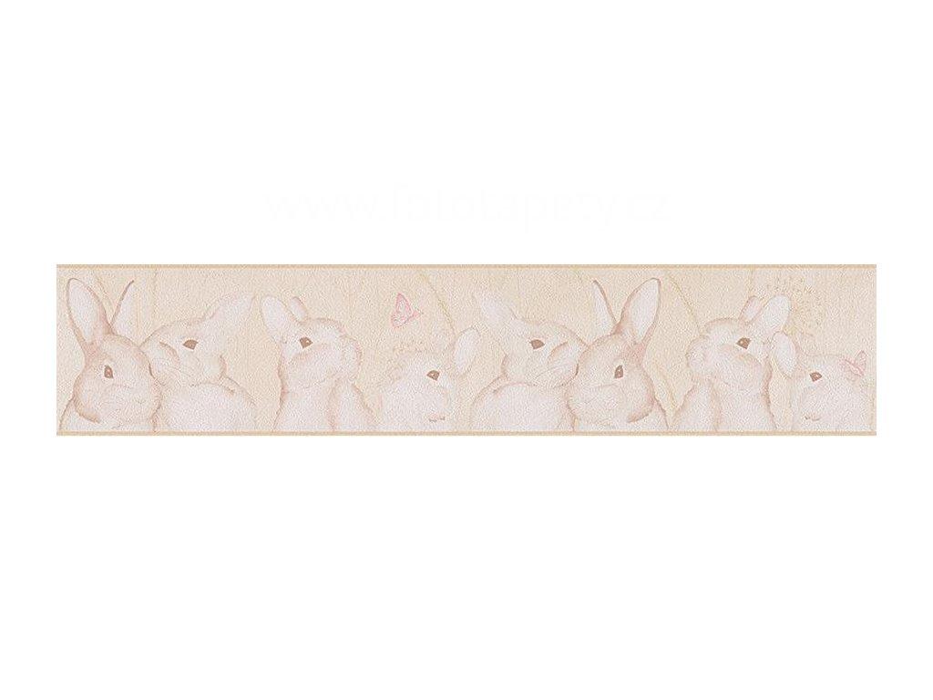 Papírová bordura na zeď Only borders 9 - Zajíčci, 13cmx5m, 3033-05