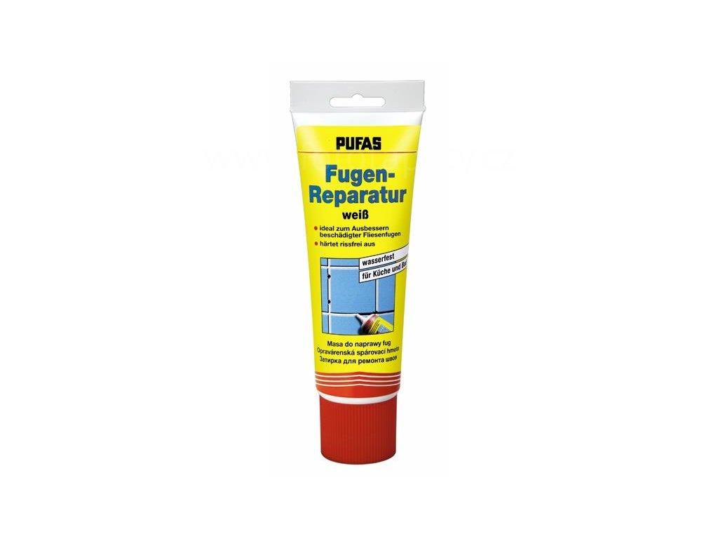 Spárovací a lepící hmota, běloba Fugen Fix Ceramik - PUFAS, pro kuchyně a koupelny, 400g
