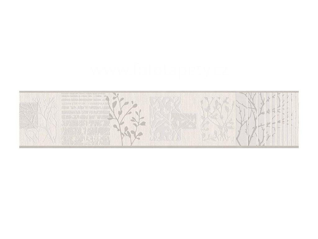 Vinylová bordura Only borders 10 - Šedé větvičky, 13cmx5m, 3054-11