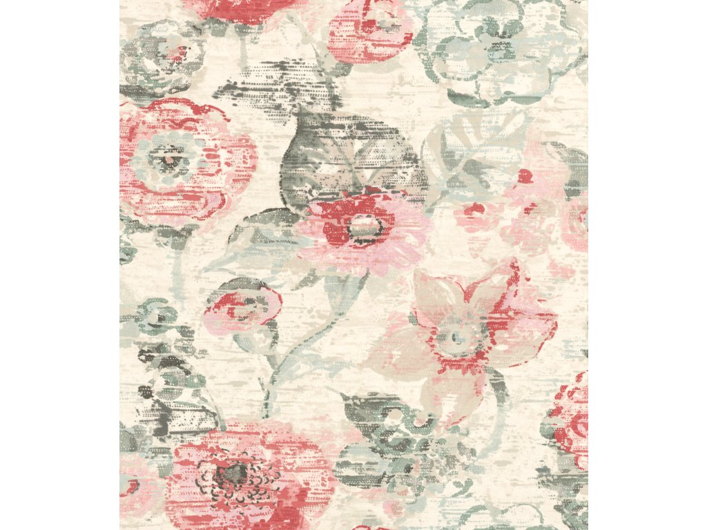 Vliesová tapeta na zeď Rasch 803723 - Květy, kolekce Lucy in the Sky 0,53 x 10,05 m