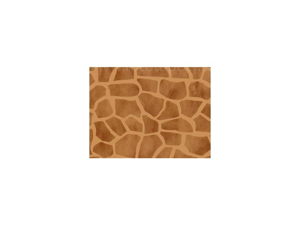 Samolepící tapeta imitace přírodního materiálu, vzor Žirafa