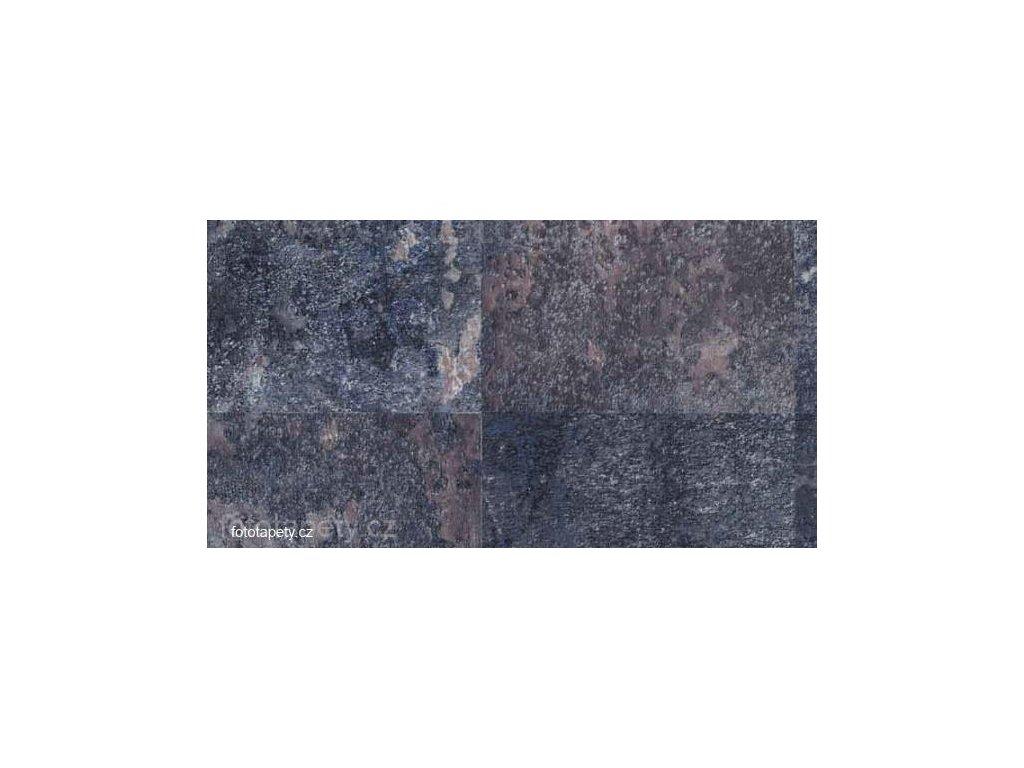 Samolepící fólie imitace přírodního materiálu - Oxidovaná ocel modrá