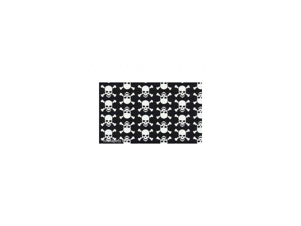 Samolepící fólie decor, Sculls - Bílé lebky