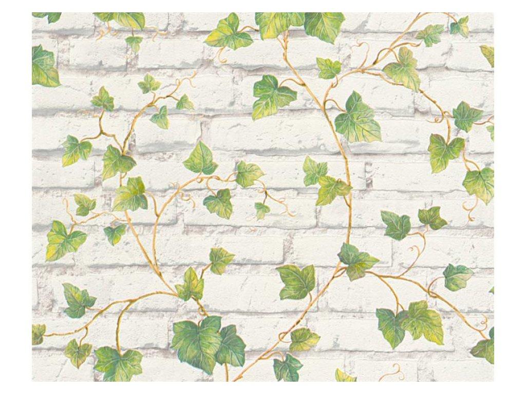 Vliesová tapeta na zeď Best of Wood & Stone 2, 3194-21 - cihlová zeď, břečťan