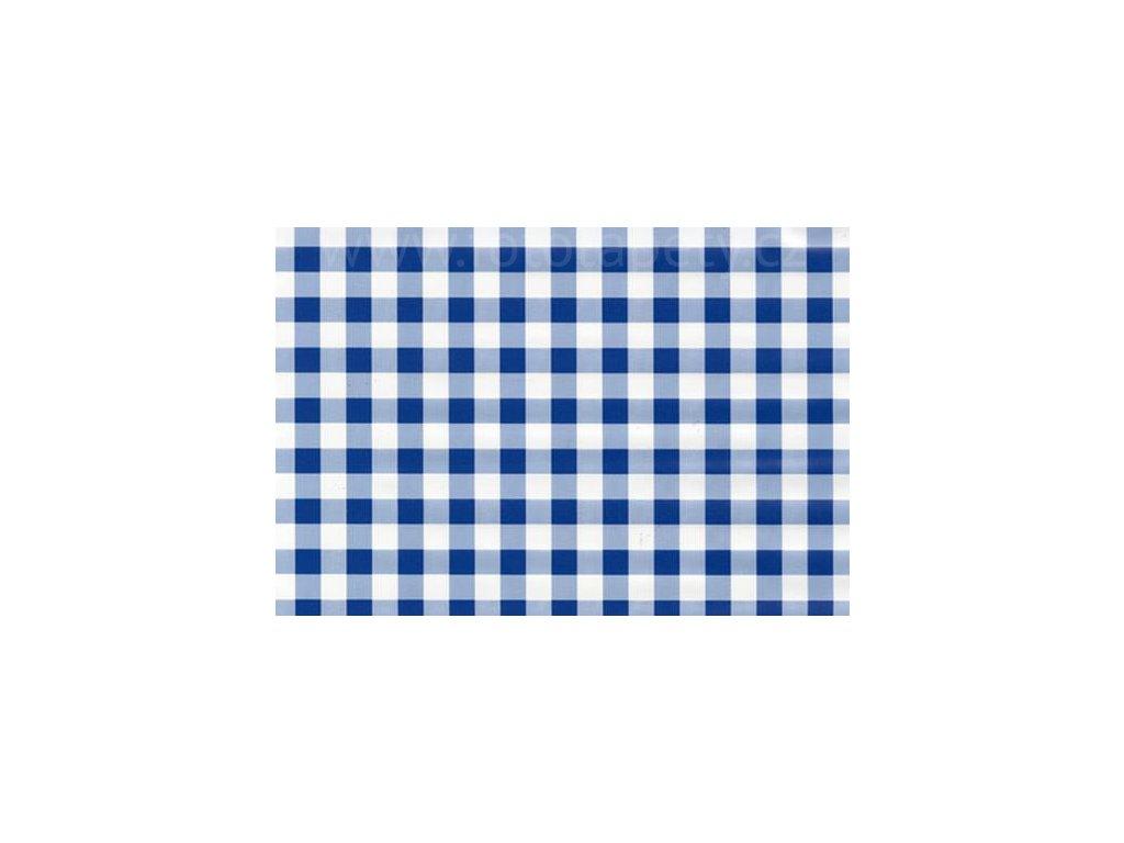 Samolepící fólie imitace Decor, Kostkovaný ubrus modrý